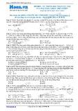 Chuyên đề LTĐH môn Vật lý: UC trong bài toán cực trị của mạch RLC khi C biến thiên
