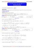 Luyện thi Đại học môn Toán: Nguyên hàm của hàm hữu tỉ (Phần 1) - Thầy Đặng Việt Hùng