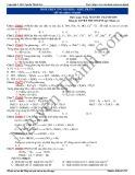 Luyện thi Đại học môn Hóa: Phản ứng oxi hóa khử (Phần 1)