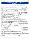 Luyện thi Đại học môn Hóa: Cấu trúc phân tử hợp chất hữu cơ (Đề 1)