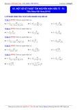 Luyện thi Đại học môn Toán: Một số kĩ thuật tìm nguyên hàm hữu tỉ (Phần 1) - Thầy Đặng Việt Hùng