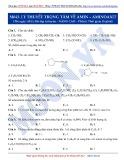 Luyện thi ĐH môn Hóa học 2015: Nâng cao-Lý thuyết trọng tâm về Amin-Aminoaxit (Phần 1)