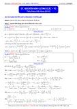 Luyện thi ĐH môn Toán: Nguyên hàm lượng giác - Phần 2