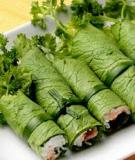Tên món ăn Việt theo tiếng Anh