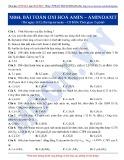Luyện thi ĐH môn Hóa học 2015: Cơ bản-Bài toán Oxi hóa Amin-Aminoaxit