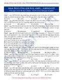 Luyện thi ĐH môn Hóa học 2015: Nâng cao-Bài toán Oxi hóa Amin-Aminoaxit