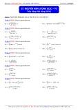 Luyện thi ĐH môn Toán: Nguyên hàm lượng giác (Phần 3) - Thầy Đặng Việt Hùng