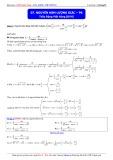 Luyện thi ĐH môn Toán: Nguyên hàm lượng giác (Phần 6) - Thầy Đặng Việt Hùng