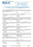 Chuyên đề LTĐH môn Hóa học: Phương pháp giải bài toán trung hòa Amin và Aminoaxit
