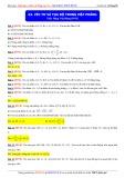 Toán học lớp 10: Vectơ và tọa độ trong mặt phẳng - Thầy Đặng Việt Hùng