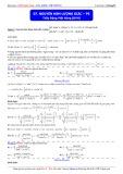 Luyện thi ĐH môn Toán: Nguyên hàm lượng giác (Phần 5) - Thầy Đặng Việt Hùng
