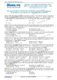 Chuyên đề LTĐH môn Vật lý: Xác định thành phần chưa biết của mạch điện xoay chiều (Đề 1)