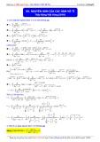 Luyện thi ĐH môn Toán: Nguyên hàm của các hàm vô tỉ - Thầy Đặng Việt Hùng
