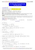 Luyện thi ĐH môn Toán: Phương pháp từng phần tìm nguyên hàm - Thầy Đặng Việt Hùng