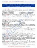 Luyện thi ĐH môn Hóa học 2015: Cơ bản-Bài tập đặc biệt về Amin-Aminoaxit-Peptit