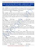 Luyện thi ĐH môn Hóa học 2015: Nâng cao-Bài tập đặc biệt về Amin-Aminoaxit-Peptit