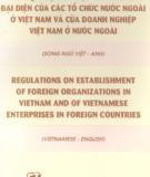 Ebook Quy định về đặt văn phòng đại diện của các tổ chức nước ngoài ở Việt Nam và của doanh nghiệp Việt Nam ở nước ngoài: Phần 1 - NXB Chính trị Quốc gia