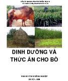 dinh dưỡng và thức ăn cho bò: phần 1 - nxb nông nghiệp