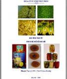Giáo trình Thực tập công nghệ chế biến rau quả: Phần 1 - ĐH Nông nghiệp I Hà Nội