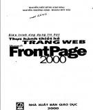 Giáo trình ứng dụng tin học: Thực hành thiết kế trang web Microsoft FrontPage 2000 (Phần 2) - Nguyễn Việt Dũng (chủ biên)