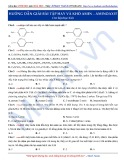 Luyện thi ĐH môn Hóa học 2015: Hướng dẫn giải bài tập hay và khó Amin-Aminoaxit
