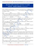 Luyện thi ĐH môn Hóa học 2015: Hướng dẫn giải bài tập hay và khó Peptit-Muối Amoni