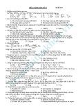 Đề thi thử Đại học môn Hóa (Mã đề 256)