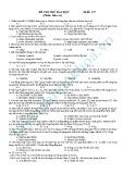 Đề thi thử Đại học môn Hóa (Mã đề 117)