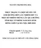 Tóm tắt Luận án Tiến sĩ Y tế công cộng: Thực trạng và một số yếu tố ảnh hưởng đến lây nhiễm HIV và một số nhiễm trùng lây qua đường tình dục ở nhóm nam bán dâm đồng giới tại Hà Nội, 2009 - 2010