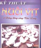 Ebook Kỹ thuật nuôi vịt ở Đồng bằng Sông Cửu Long: Phần 1 - Phạm Anh Tuấn