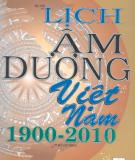 Tìm hiểu Lịch âm dương Việt Nam (1900 - 2010): Phần 1