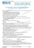 Chuyên đề LTĐH môn Hóa học: Nâng cao-Lý thuyết trọng tâm và bài tập về nhôm và hợp chất