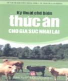 Phương pháp chế biến thức ăn cho gia súc nhai lại: Phần 1
