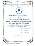 Báo cáo thực tập tốt nghiệp: Định hướng phát triển hoạt động cho vay tiêu dùng có tài sản bảo đảm tại ngân hàng Việt Nam Thịnh Vượng chi nhánh Thạch Mỹ Lợi quận 2 TP.HCM giai đoạn 2014-2017