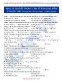 Luyện thi ĐH môn Hóa học 2015: Cơ bản-Lý thuyết trọng tâm về kim loại kiềm và hợp chất