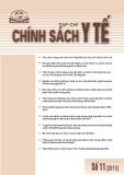 Tạp chí chính sách Y tế số 11 năm 2013