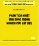 Ebook Phân tích nhiệt ứng dụng trong nghiên cứu vật liệu: Phần 1 - Nguyễn Tiến Tài