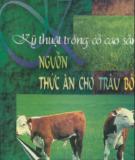 Ebook Kỹ thuật trồng cỏ cao sản Nguồn thức ăn cho trâu bò: Phần 1 - Việt Chương, KS. Nguyễn Việt Thái