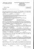 Đề thi thử môn Vật lý THPT Quốc gia năm 2015 (Mã đề 628) kèm đáp án