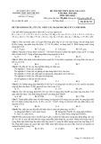 Đề thi thử môn Hóa học THPT Quốc gia năm 2015 (Mã đề 132) kèm đáp án - THPT Hàn Thuyên