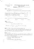 Đề kiểm tra định kỳ lần 2 môn Toán lớp 9 năm 2005