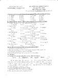 Đề kiểm tra định kỳ lần 1 môn Tiếng Anh lớp 6 năm 2015