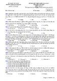Đề thi thử môn Vật lý THPT Quốc gia năm 2015 (Mã đề 132) kèm đáp án - THPT Hàn Thuyên