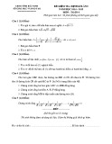 Đề kiểm tra định kỳ lần 1 môn Toán lớp 9 năm 2015