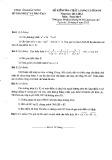 Đề kiểm tra chất lượng cuối năm môn Toán lớp 9 năm 2012