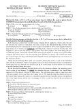 Đề thi thử môn tiếng Anh THPT Quốc gia năm 2015 (Mã đề 138) kèm đáp án - THPT Hàn Thuyên