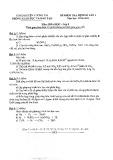 Đề kiểm tra định kỳ lần 1 môn Hóa học lớp 8 năm 2015