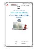 Tiểu luận công nghệ chế biến sữa: Công nghệ chế biến Yaourt