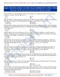 Luyện thi Đại học môn Hóa: Nâng cao-Phương pháp giải bài toán hidroxit lưỡng tính
