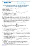 Chuyên đề LTĐH môn Sinh học: Ứng dụng di truyền vào chọn giống (Đề 1)
